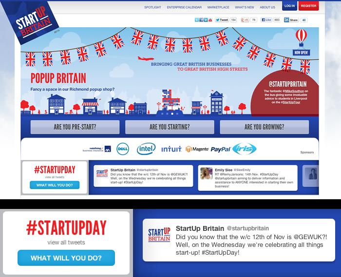 StartUp Britain Twitter campaign